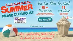 $1 and $0.50 movies at Cinemark theaters all over the US, all summer long!