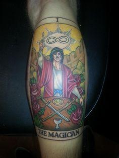The Magician Tarot Card from Tom @ Scorpion Tattoo, Brisbane North, Australia | Tattoos Pin
