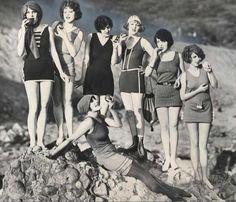 Flapper era swimwear