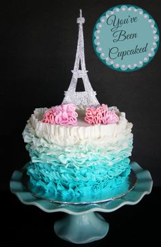 Paris Themed Cake