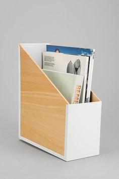 Wood & Metal File Organizer