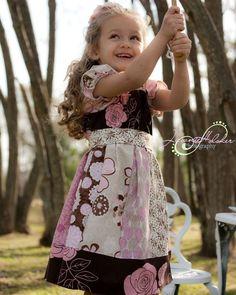 Girls Peasant Dress SEWING PATTERN by littlelizardking