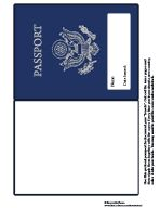 Printable Passport for geography studies