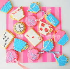 Alice in Wonderland tea party cookies!, via Flickr.