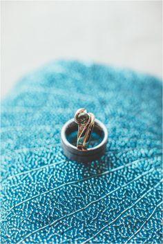 diamond alternative engagement ring, photo by Hazelwood Photo http://ruffledblog.com/portland-wedding-with-music-inspired-details #weddingring #engagementring