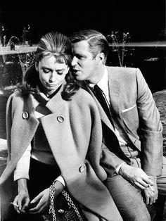 Audrey Hepburn and George Peppard