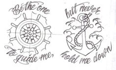 this will be my next tattoo. Be the one to guide me but never hold me down.