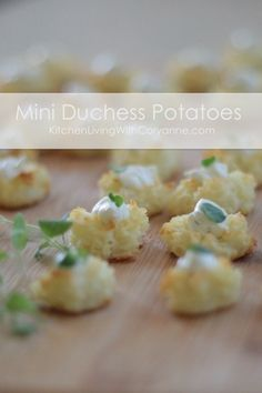 Quick Holiday Party Food:  Mini Duchess Potatoes by Coryanne Ettiene