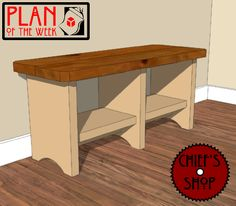 Plan of the Week: Ready For School Bench