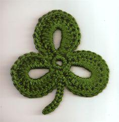 Vintage looking crocheted shamrock... like Grandma used to make.