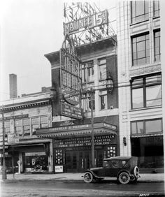1920s Detroit Woodward Ave St Scene Old Theatre Photo
