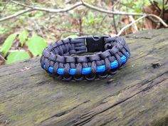 The Thin Blue Line.  Show your support for our Law Enforcement with this awesome Survival Apparatus!  Check out our facebook page at http://www.facebook.com/ParacordSurvival or at http://www.paracord-survival.com