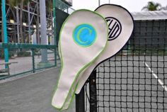 $140 Monogrammed Tennis Racket Canvas Covers