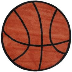 LA Rug Inc Fun Time Shape Basketball Brown and Black 39 in. Round Area Rug-FTS 004 39RD at The Home Depot $40 Free shipping to store or with larger order
