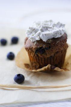 blueberry apple muffins & lime cream (gluten & dairy free)