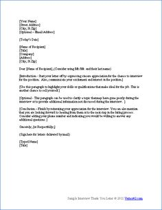 Is this a good thank you letter for an MBA interview?
