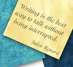 A good reason to write...