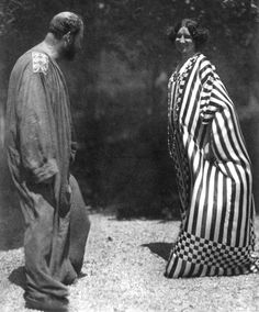Gustav Klimt & Emilie Flöge by Hans Böhler, 1910