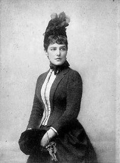 Jennie Jerome (later Jennie Churchill), 1880s.  Mother of Winston Churchill.