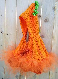 Crochet Pumpkin Poncho - Pattern $4.99