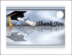 Graduation Thank You Cards - Ideal for All School Graduates at GraduationCardsShop