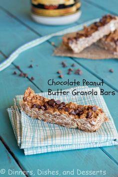Peanut Butter Granola Bars   @dinnersdishesdessert