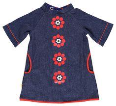 Albababy Astrid denim modflower dress