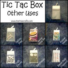 Karima's Crafts: Tic Tac Box Uses - Great Ideas