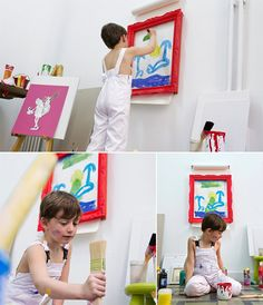 paper roll / frame for kids instantly puts their artwork on display