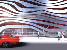 Los Angeles... Petersen Automotive Museum- KPF to wrap steel ribbons around the building. #losangeles #california #USA #museum #KPF #architecture #design #cars #automobiles #contemporary #sleek
