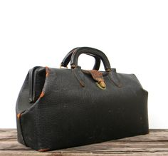 Doc's Bag  vintage doctor's leather bag by by Mylittlethriftstore, $36.00