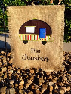Hey, I found this really awesome Etsy listing at https://www.etsy.com/listing/164400716/new-camping-personalized-garden-flag