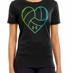 Amazon.com: Under Armour Women's UA Heart Volleyball Graphic T-Shirt: Sports & Outdoors