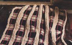 Mile-A-Minute Plaid Crochet Afghan - Pattern -