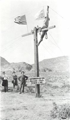 Completing the transcontinental phone line, Wendover, Utah, 1914