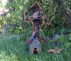 Fairie Tree House  Unique Handcrafted Garden by HopesGardenGifts