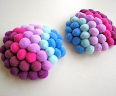 Bobble Crocheted Nipple Pasties Purples and blues by SexOnAStitch