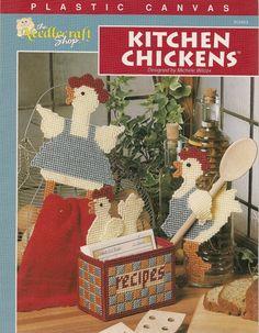 Kitchen Chickens Plastic Canvas Pattern by needlecraftsupershop, $4.50