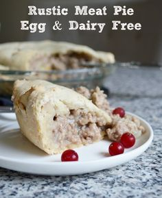 Dairy & Egg-Free Rustic Meat Pie Recipe