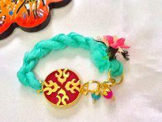 SALETURKISH SULTANA Bracelet Silk and jade Bracelet 22k by Nezihe1