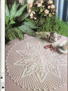 Crochet Doily Round White Lace Crocheted  Wheat by CrochetMiracles, $25.00