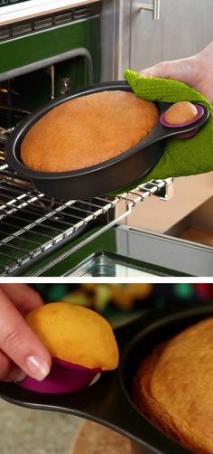 Nibble // a mini silicone cup alongside the steel cake pan let's you taste a sample. Brilliant! #product_design