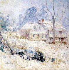 Country House in Winter - John Henry Twachtman, 1891