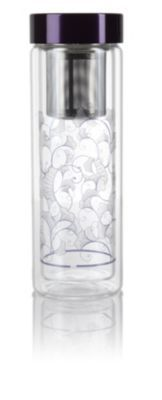Lotus Glass Tea Tumbler. I love watching tea infuse through a glass container. The lotus detailing is pretty as well, allowing you to see a subtle pattern on the tea