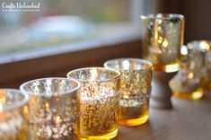 Nontraditional Mercury Glass DIY Menorah {Or Holiday Centerpiece!}