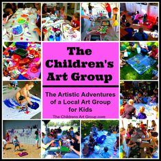 Visit The Children's Art Group Blog for tons of ideas for group art and playdates! http://www.thechildrensartgroup.com/