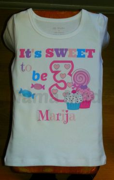 Cupcake and Candy Sweet to Be.. Candy Shop Shirt $15.00+ by mamamadebows on Etsy, $15.00
