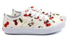 cherry canvas shoes <3....no link to source though #CherryShoes #Cherry #CherryChick