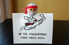 Ninja Valentine from Life in Wonderland Valentine's Day   Fun valentine for boys