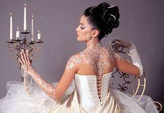 more beautiful white #wedding henna